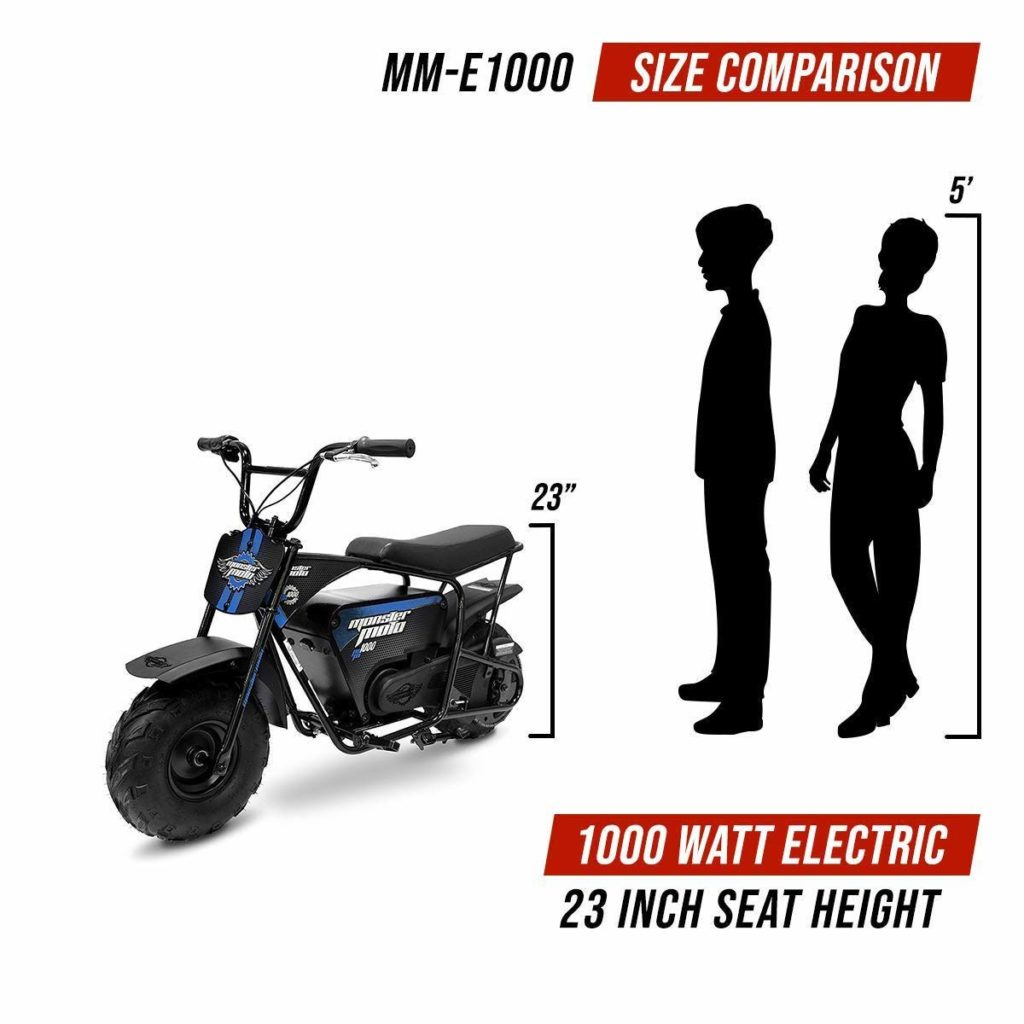 monster moto 1000 reviews size