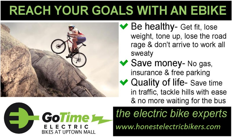 reach your goal with an ebike