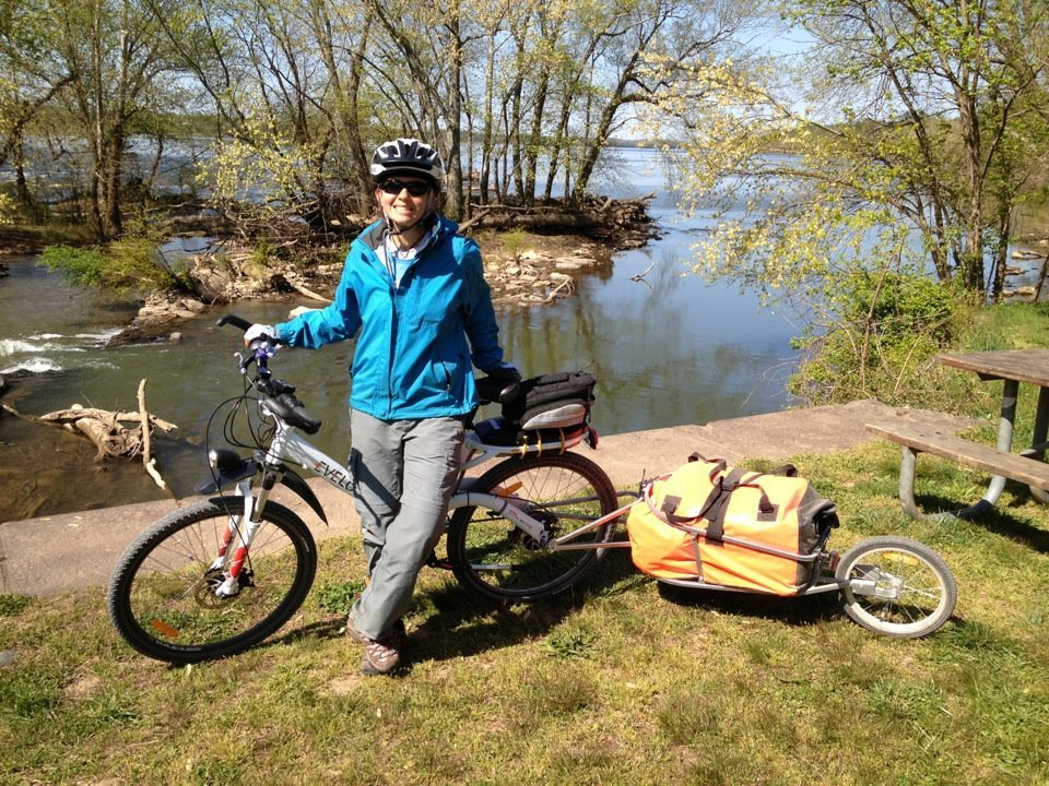 electric bike and cargo trailer